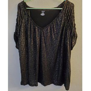 Clearance**  Black and Silver Blouse sz 16